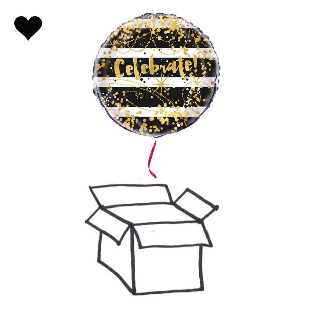 Folieballon Celebrate black & gold-2