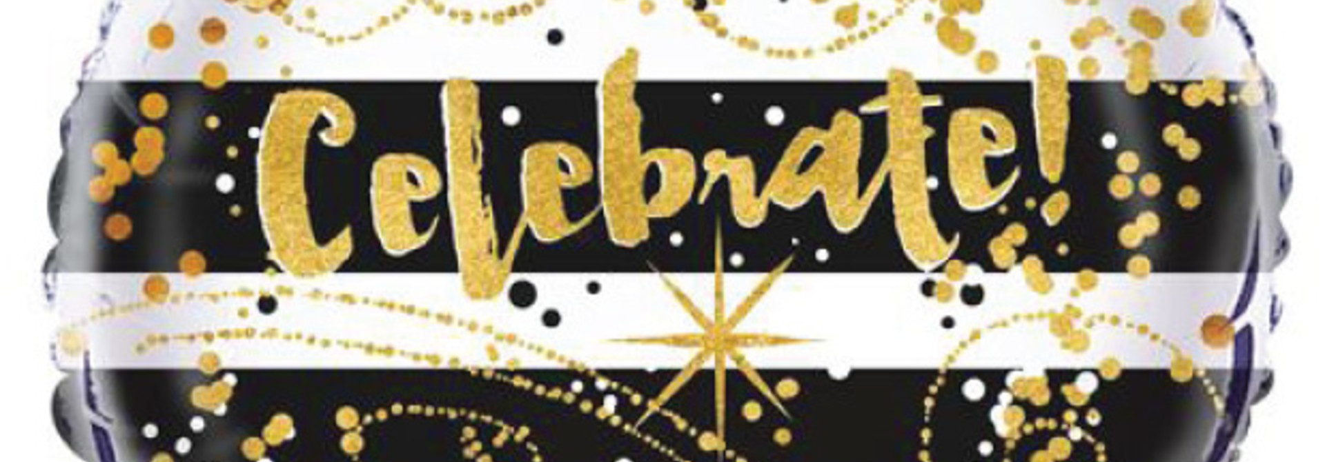 Folieballon Celebrate black & gold