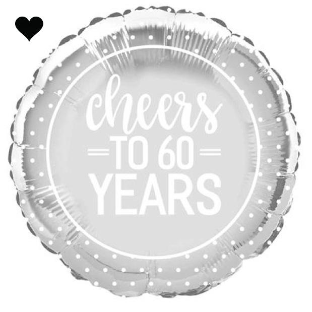 Folieballon Cheers to 60 years-1