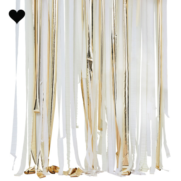Backdrop Streamer Gold & White Mix it Up Ginger Ray-1