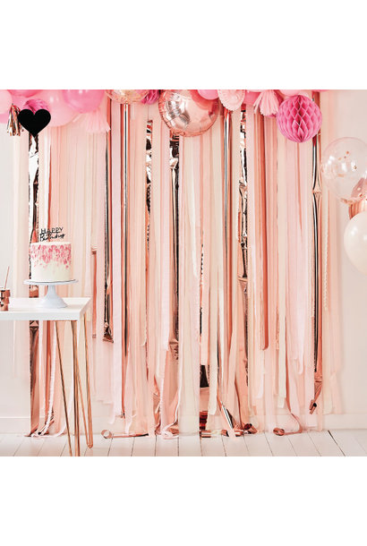 Backdrop Streamer Pink & Rose Gold Mix it Up Ginger Ray
