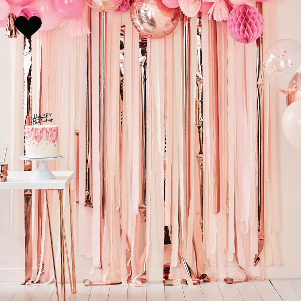 Backdrop Streamer Pink & Rose Gold Mix it Up Ginger Ray-1