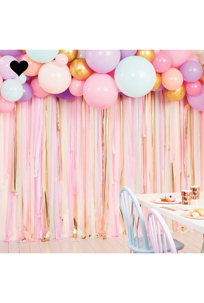 Backdrop Pastel Streamer & Ballonnen kit Ginger Ray