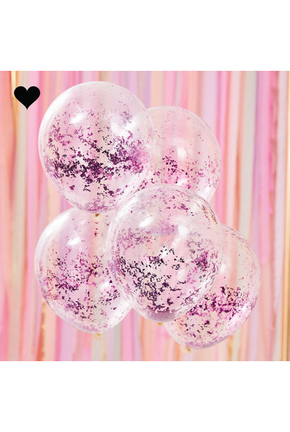 Confetti ballonen lila Mix it Up (5st) Ginger Ray