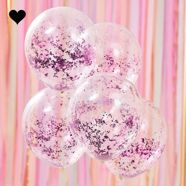 Confetti ballonen lila Mix it Up (5st) Ginger Ray-1