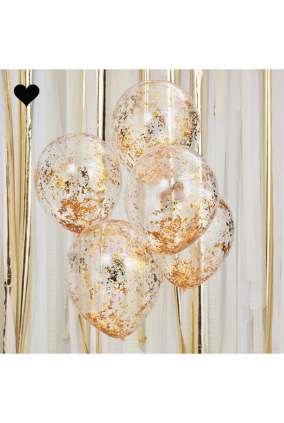Confetti ballonen goud Mix it Up (5st) Ginger Ray