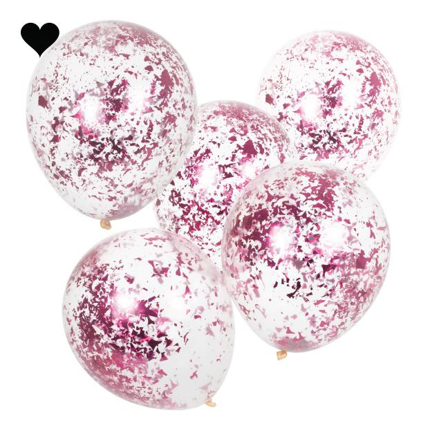 Confetti ballonen roze Mix it Up (5st) Ginger Ray-2