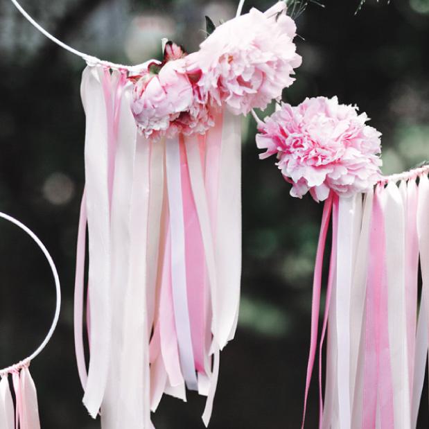 Satijnlint poeder roze op rol (25m)-2