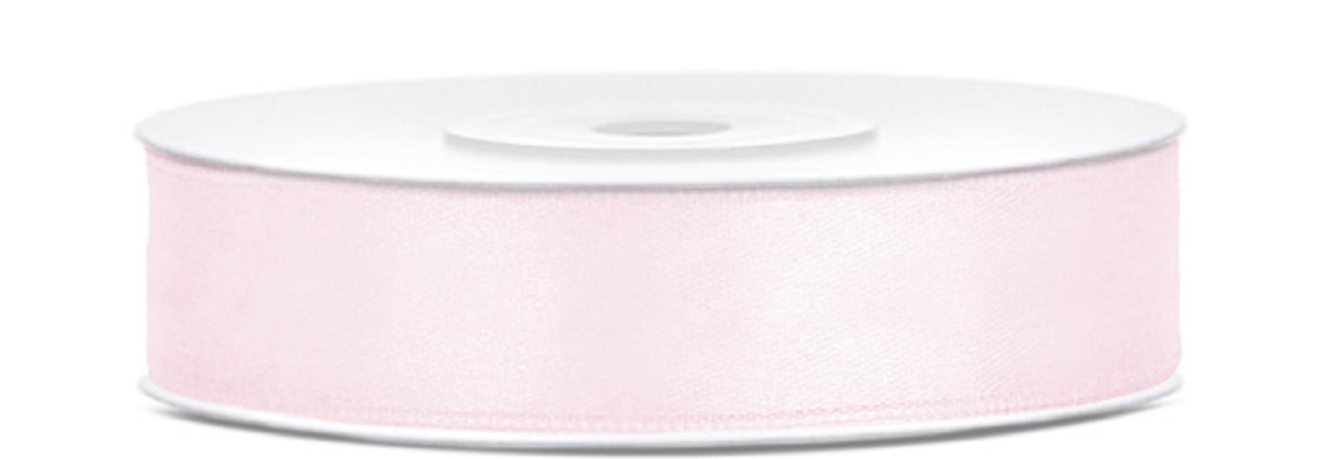 Satijnlint poeder roze op rol (25m)