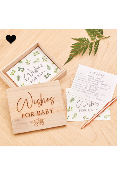 Baby wishes in houten doosje Botanical Baby Ginger Ray