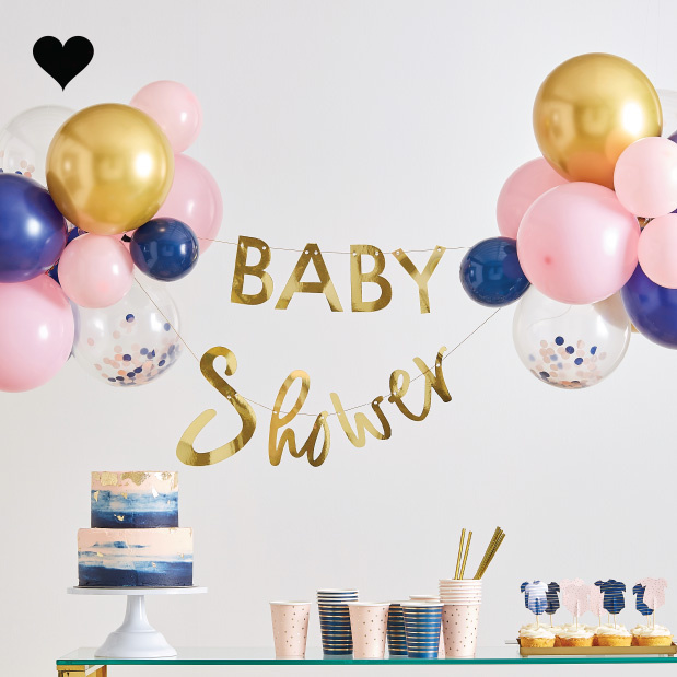 Babyshower slinger met ballonnen Gender Reveal Ginger Ray-1