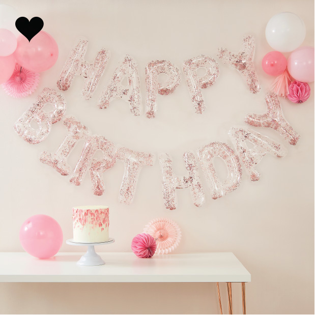 Slinger confetti folieballonnen Happy Birthday Ginger Ray-1