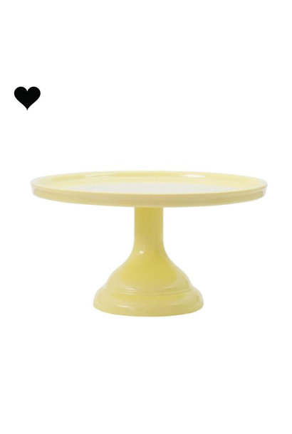 Taartplateau pastel geel klein A Little Lovely Company