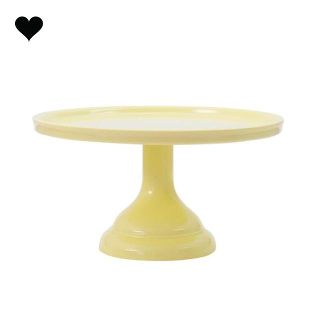 Taartplateau pastel geel klein A Little Lovely Company-1