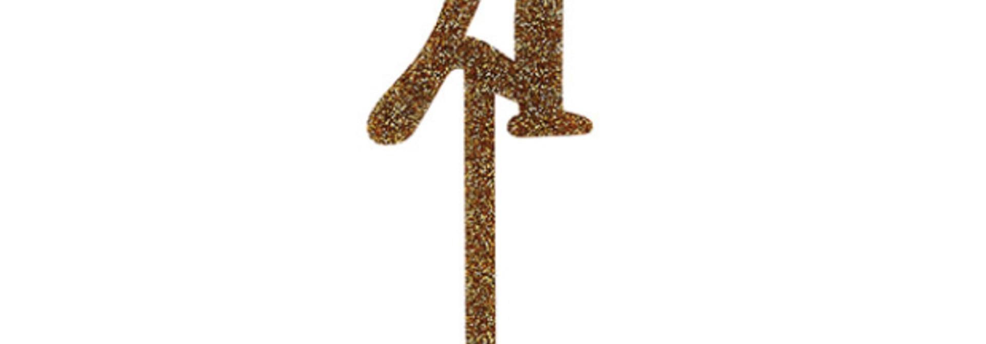 Taarttopper acryl goud 21 Hootyballoo