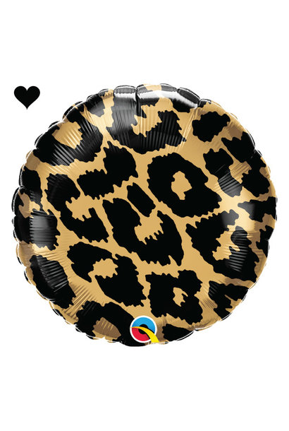 Folieballon panter print (46cm) Qualatex