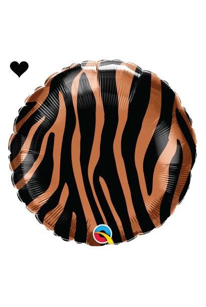 Folieballon tijger print (46cm) Qualatex