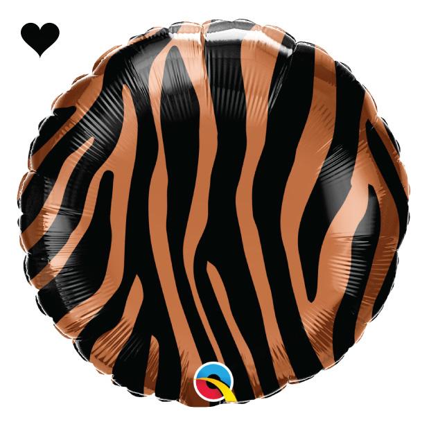 Folieballon tijger print (46cm) Qualatex-1