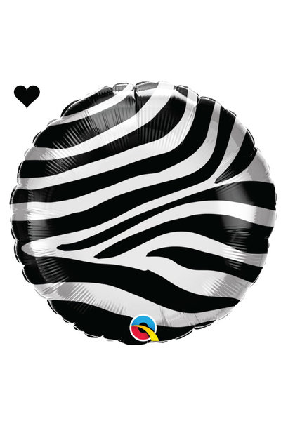 Folieballon zebra print (46cm) Qualatex