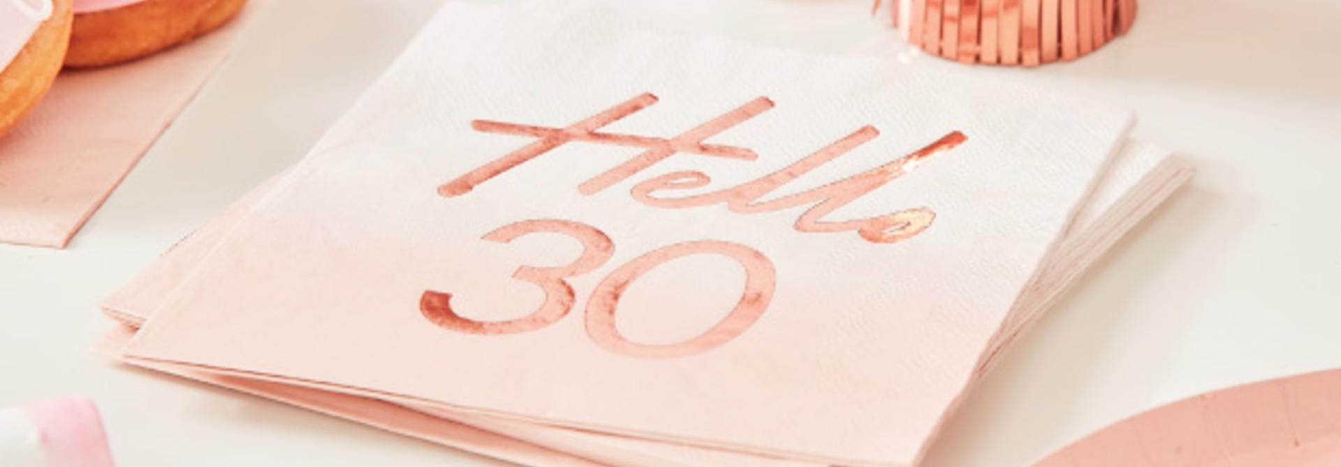 Servetten Hello 30 roségoud Mix it Up (16st) Ginger Ray