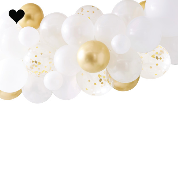 Ballonnenboog Goud Chroom Ginger Ray-2
