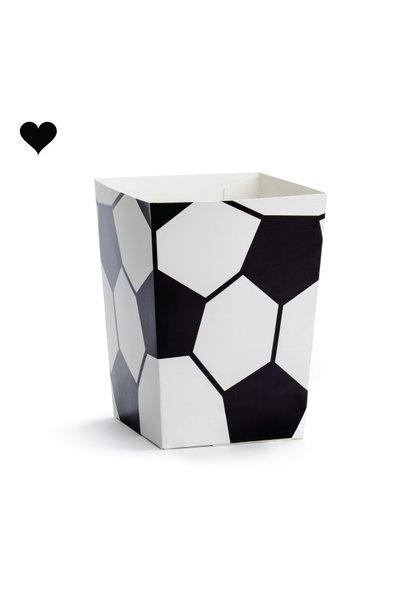 Popcorn bekers voetbal (6st)