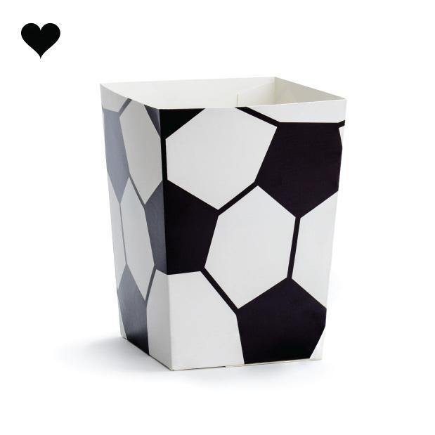 Popcorn bekers voetbal (6st)-1