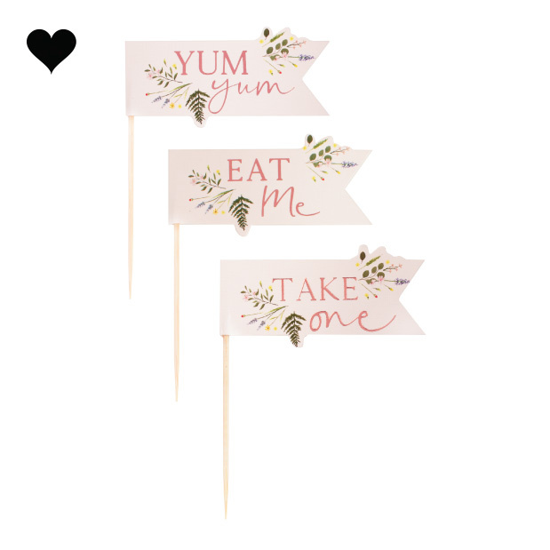 Cupcake toppers Let's Partea (12st) Ginger Ray-2
