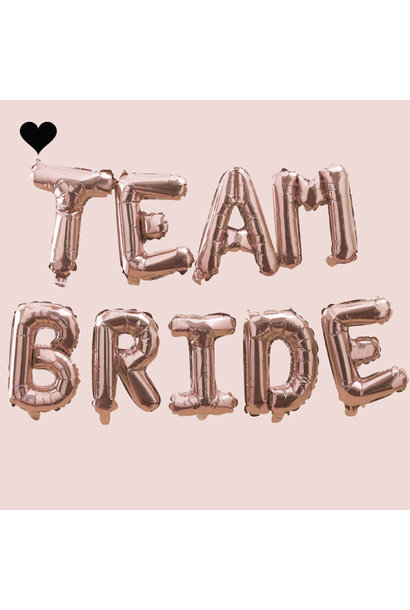 Team Bride folieballonslinger Blush Hen Ginger Ray