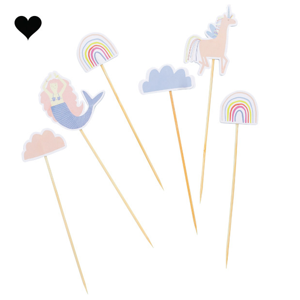 Cake toppers Enchanted Party (6st) Hootyballoo-2