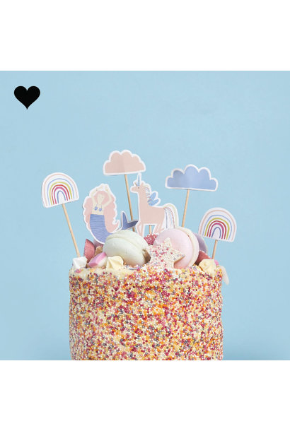Cake toppers Enchanted Party (6st) Hootyballoo