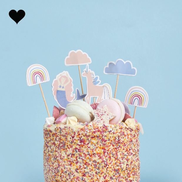 Cake toppers Enchanted Party (6st) Hootyballoo-1