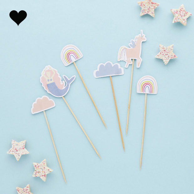 Cake toppers Enchanted Party (6st) Hootyballoo-3