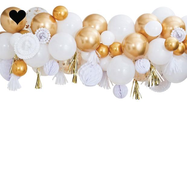 Ballonnenboog met goud decoratie Mix It Up Ginger Ray-2