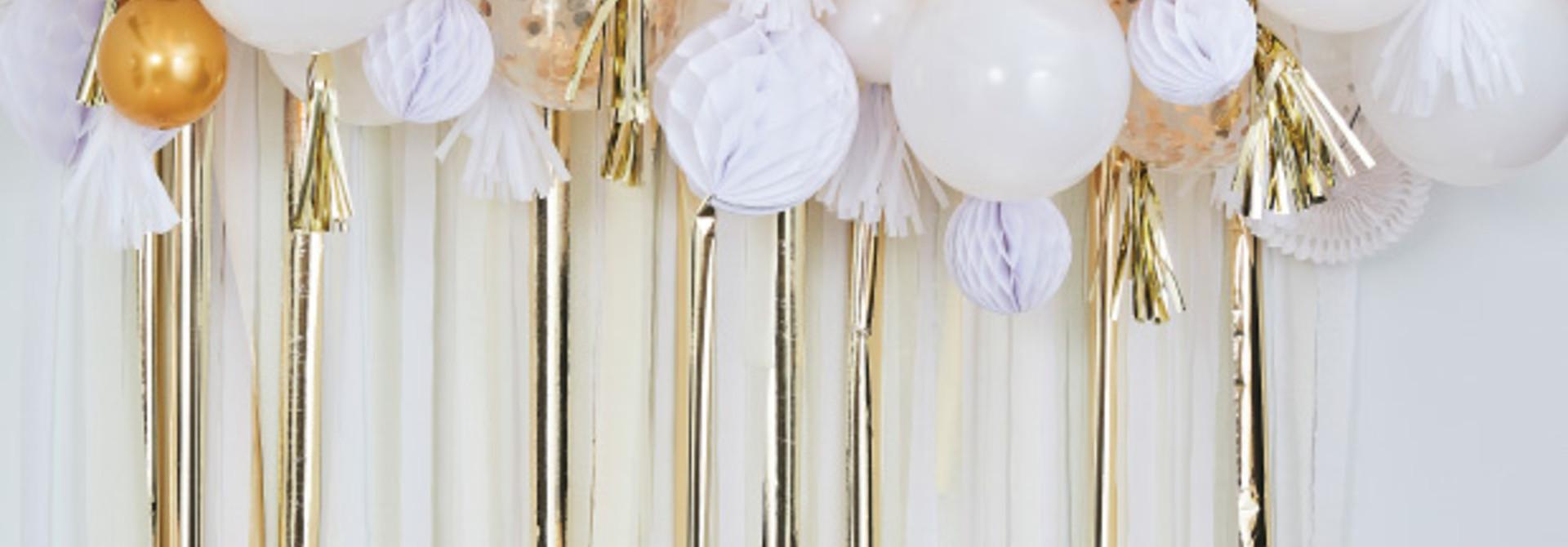Ballonnenboog met goud decoratie Mix It Up Ginger Ray