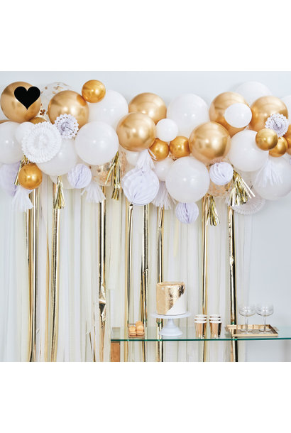 Ballonnenboog met goud decoratie Mix It Up Ginger Ray
