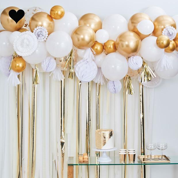 Ballonnenboog met goud decoratie Mix It Up Ginger Ray-1