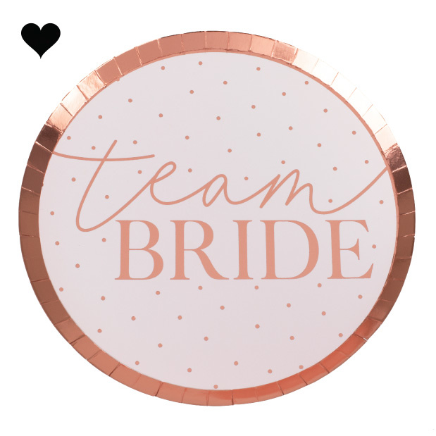 Bordjes Team Bride Blush Hen Party (8st) Ginger Ray-2