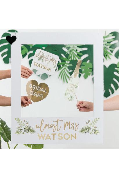 Photobooth Frame met letter stickers Botanical Hen Ginger Ray