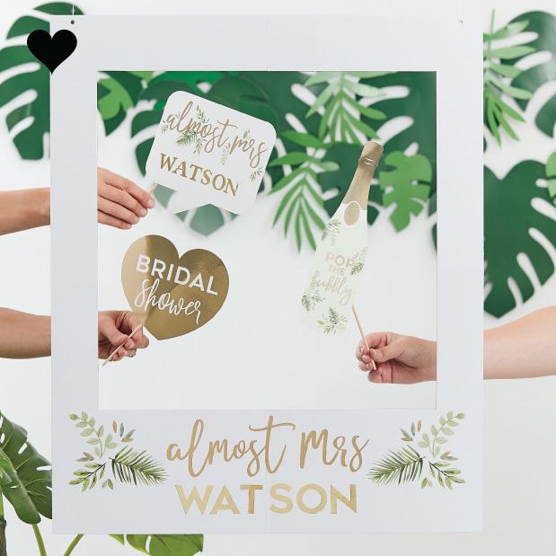 Photobooth Frame met letter stickers Botanical Hen Ginger Ray-1