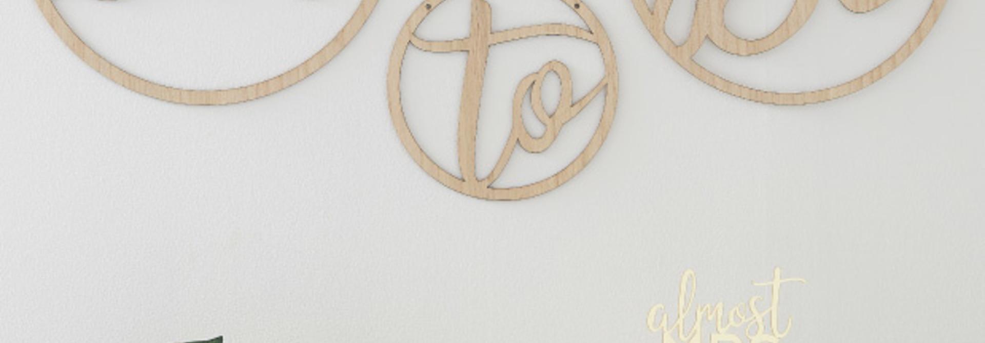 Houten hangers Bride To Be Botanical Hen (3st) Ginger Ray