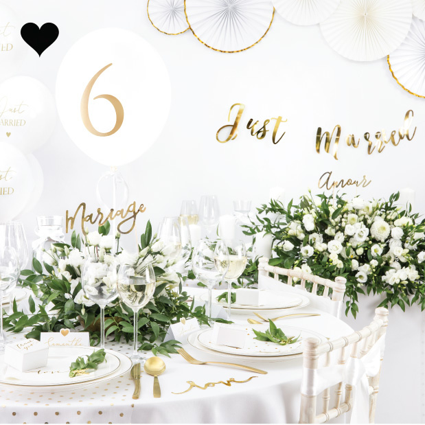 Tafelkleed rond wit (230cm) White & Gold Collection-2