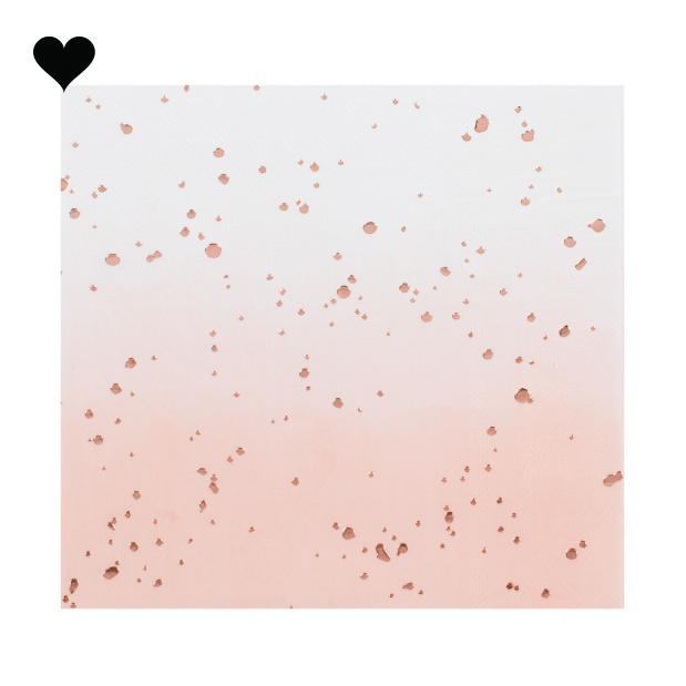 Servetten Ombre roze (16st) Ginger Ray-2