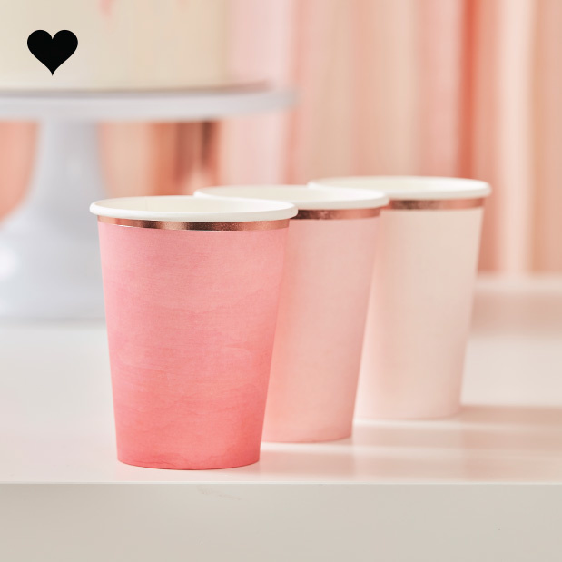 Bekertjes Ombre roze (8st) Ginger Ray-1