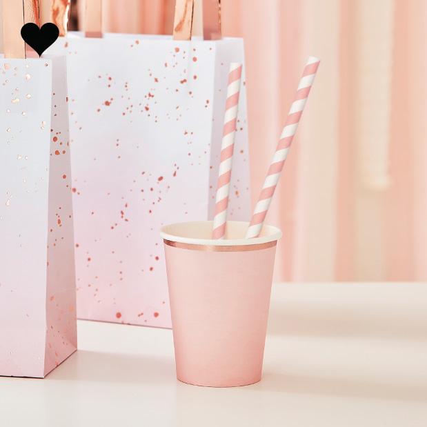 Papieren rietjes roze  Mix it Up (20st) Ginger Ray-1