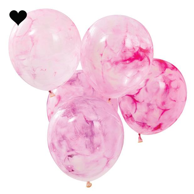 Ballonen marble DIY kit Mix it Up (5st) Ginger Ray-2