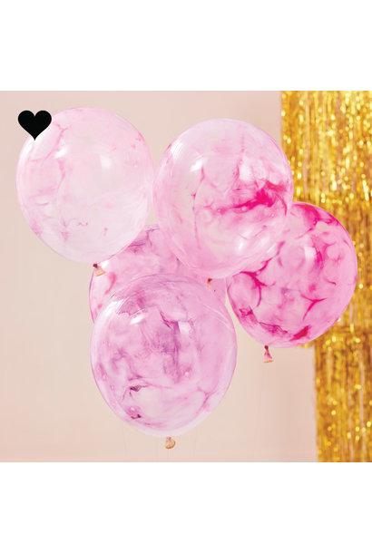 Ballonen marble DIY kit Mix it Up (5st) Ginger Ray