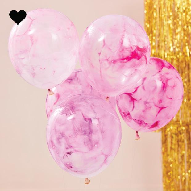 Ballonen marble DIY kit Mix it Up (5st) Ginger Ray-1