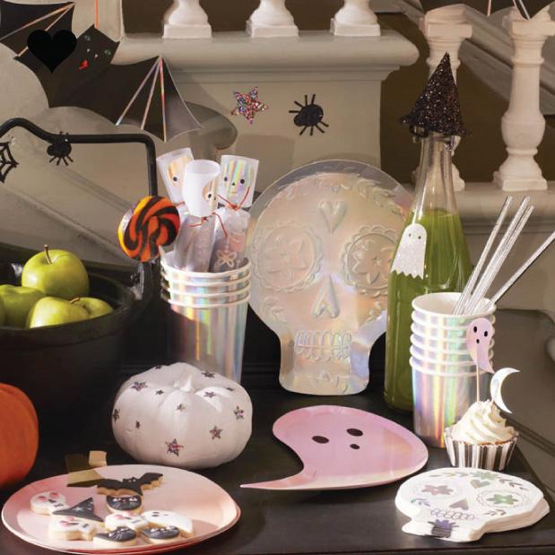 Bordjes Sugar Skull holografisch (8 st) - Meri Meri-2