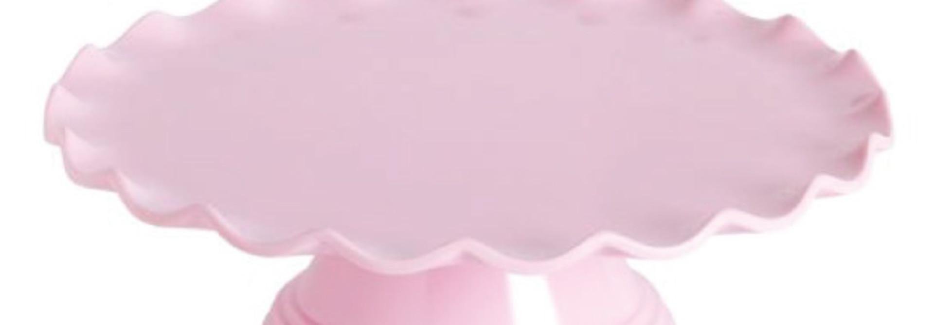 Taartplateau golfjes roze A Little Lovely Company